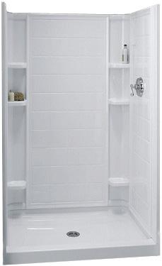 Captivating Sterling (Kohler) #72131100 0 White Ensemble Series Tile Alcove Shower With  Shaving Ledge U0026 Foot Rest Receptor Only   PHWarehouse.com