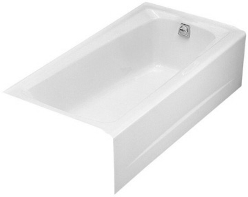 kohler k 506 0 5 39 white mendota cast iron recessed bath phwarehouse