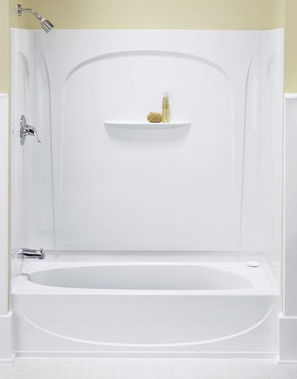 4 piece tub and shower unit. Sterling  Kohler 71090110 0 White Series 7109 Acclaim Tub Shower PHWarehouse com