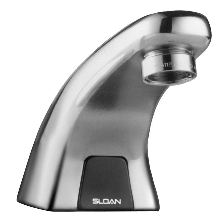 Sloan Valves #EBF615-4 Chrome Single Hole Battery Powered